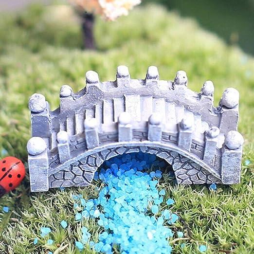 YYBF Mini Puente Resina Jardín Adorno Miniatura Hada Hogar Jardín Decoración de Oficina Juguete de Bricolaje (Gris), 1: Amazon.es: Hogar
