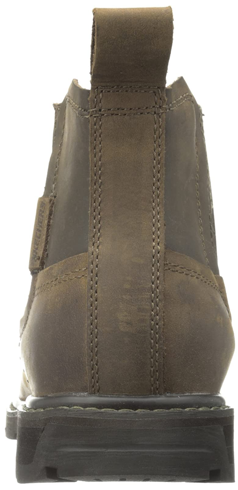 Skechers USA Men's Blaine Orsen Ankle Boot Dark Brown - 2