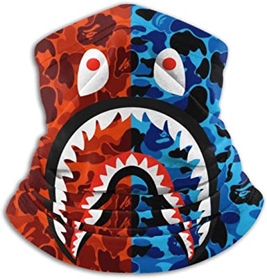 Bape Camo Blood Shark Sports Face Guards,Windproof Face Mask,Protection Mouth Mask,Magic Scarf