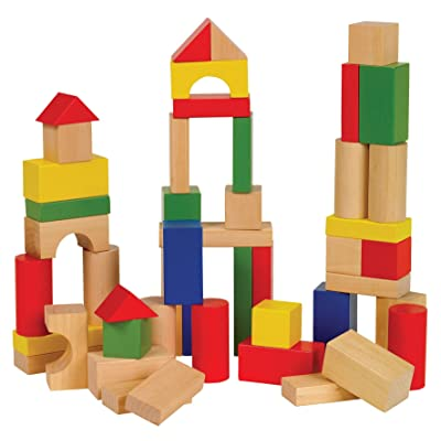 Small World Toys Ryan's Room Wooden Toys -Bag O' Blocks, Natural Color: Toys & Games