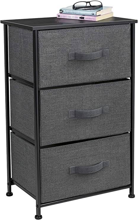 3//4//5 Drawers Bedside Table Cabinet Nightstand Chest of Drawers Bedroom Black