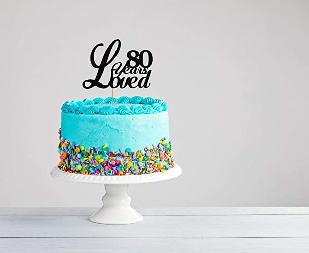 Amazon Eightieth Birthday Cake Topper 80th