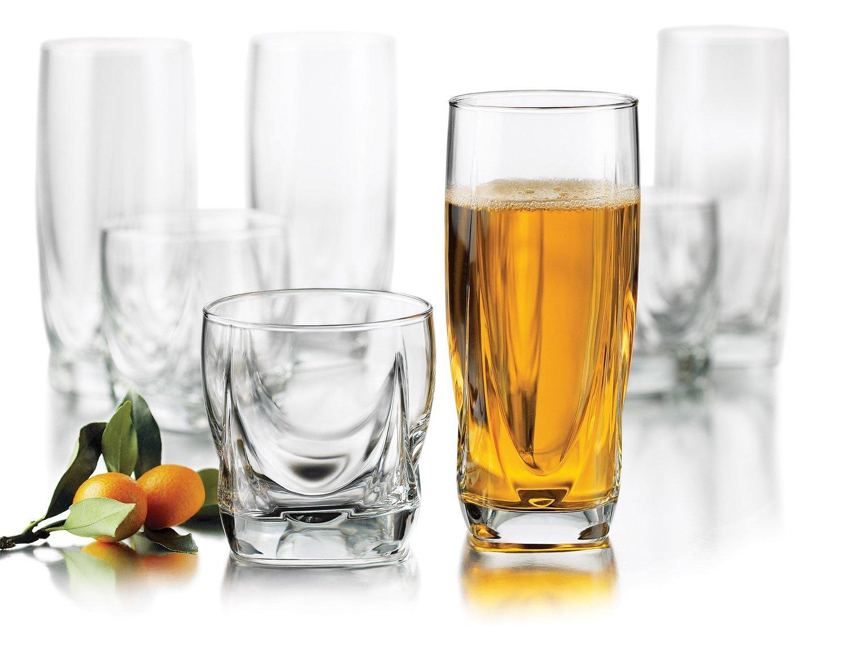 amazoncom  libbey imperial piece drinkware glass set mixed  - amazoncom  libbey imperial piece drinkware glass set mixed drinkwaresets