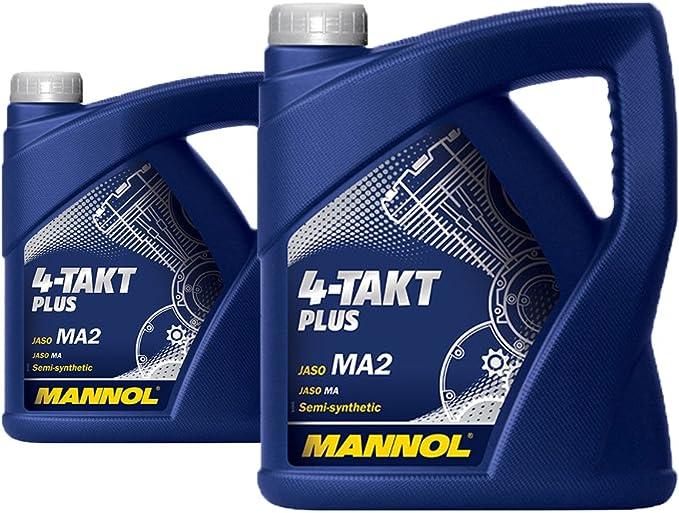 Mannol 8 Liter 4 Takt Plus Api Sl 10w 40 Motorradöl Ma2 Synthetik Auto