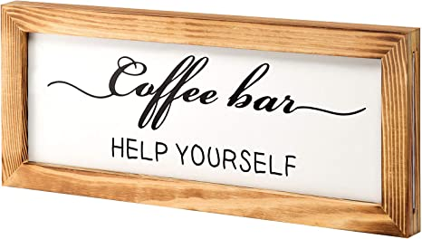Amazon Com Flinelife Coffee Bar Sign Witch Better Have My Coffee 2 Sides Farmhouse Kitchen Decor Rustic Kitchen Sign Kitchen Wall Decor Rustic Home Decor Vintage Coffee Signs For Coffee Bar 17x7 Inch