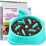 FIETING Slow Feeder Dog Bowls, Fun Feeder Sol Bowl, Maze Interactive Dog Puzzle Non Skid Stop Dog Food Bowls. Eco-Friendly No