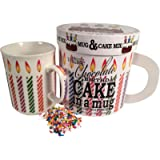 Gourmet du Village Chocolate Birthday Cake in A Mug (Gift Set), 7 oz