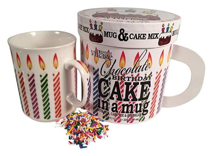 Gourmet Du Village Chocolate Birthday Cake In A Mug Gift Set 7 Oz Amazonca Grocery