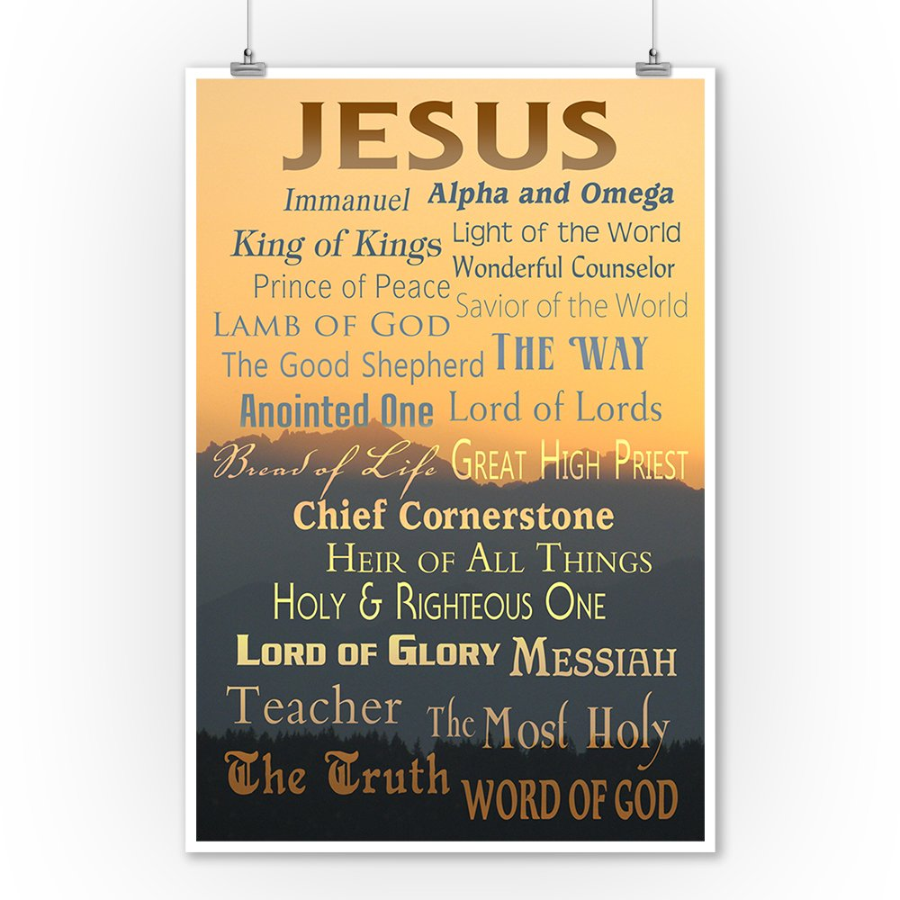 Amazon.com: Names of God - Inspirational (9x12 Collectible Art Print ...