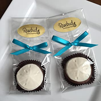 Amazon.com : 12 Chocolate SAND DOLLAR Hand Dipped Oreo Cookie Candy ...