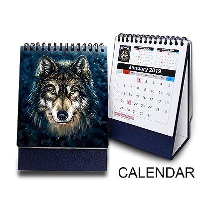 Animal Calendar 2020 Amazon.com: CEIEC3D 3D Printing Desk Calendar 2018 to 2020 5