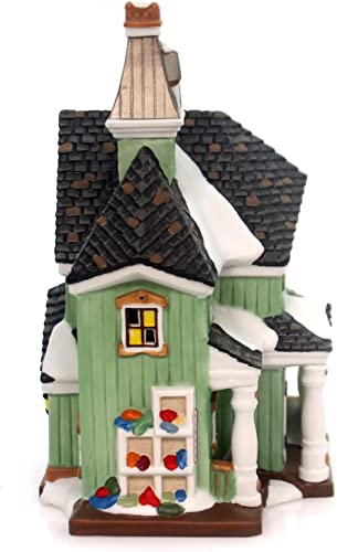 Department 56 New England Village Calico Quilts Lit House