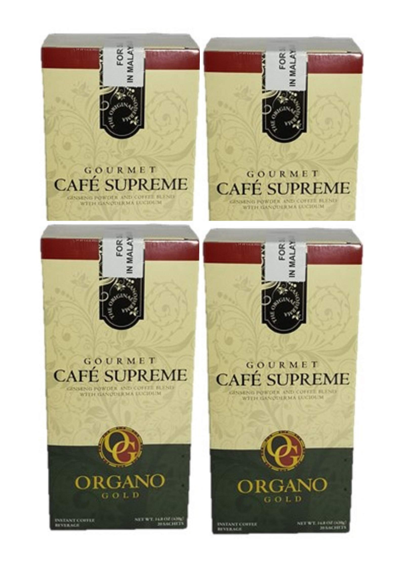 4 box of Organo Gold Cafe Supreme 100% Certified Ganoderma Extract Sealed