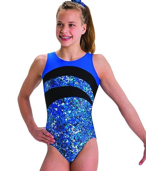 6fa745e0c Amazon.com   Motionwear Gymnastic Out of The Blue Print Silkskyn ...