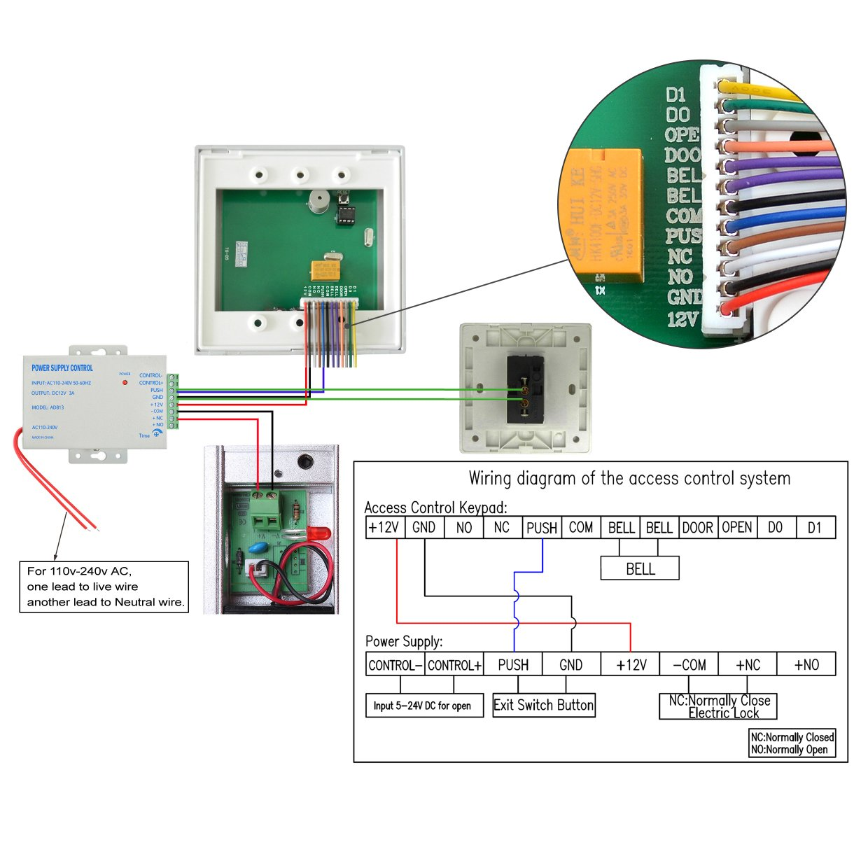 IMAGE Full Complete RFID Door Access Control system Kit set