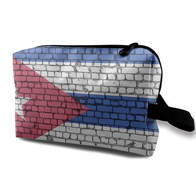 4eb3261c520b Amazon.com: Puerto Rican Flag Women's Portable Travel Makeup Bag ...