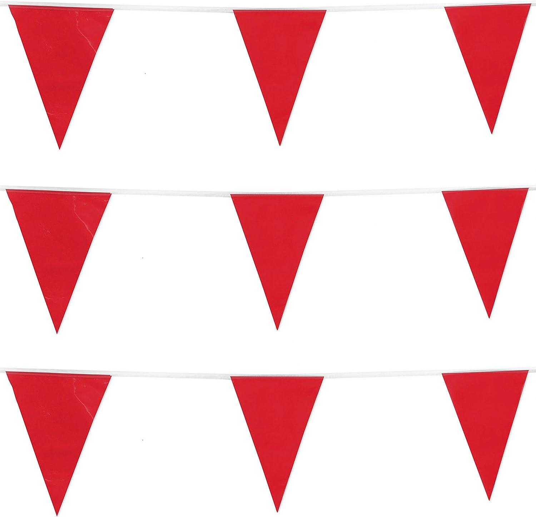 REDSTAR FANCY DRESS 10m/20 Banderas Color Guirnalda Banderas Banderines decoración Fiesta Fiestas Bandera - Rojo: Amazon.es: Juguetes y juegos