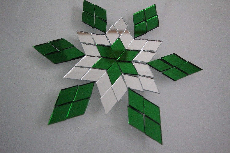 Mosaik-Diamant-Form 1 x 2 cm Gr/ün Spiegelglas 300 St/ück