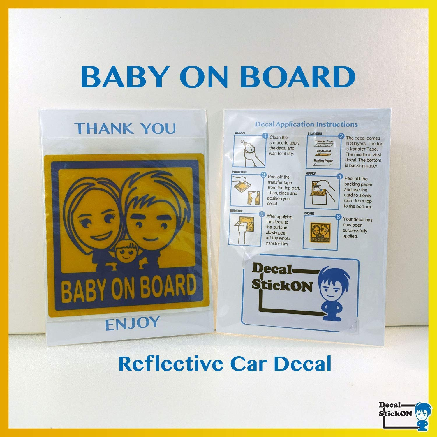 Baby On Board Sticker Baby On Board Reflective Car Decal