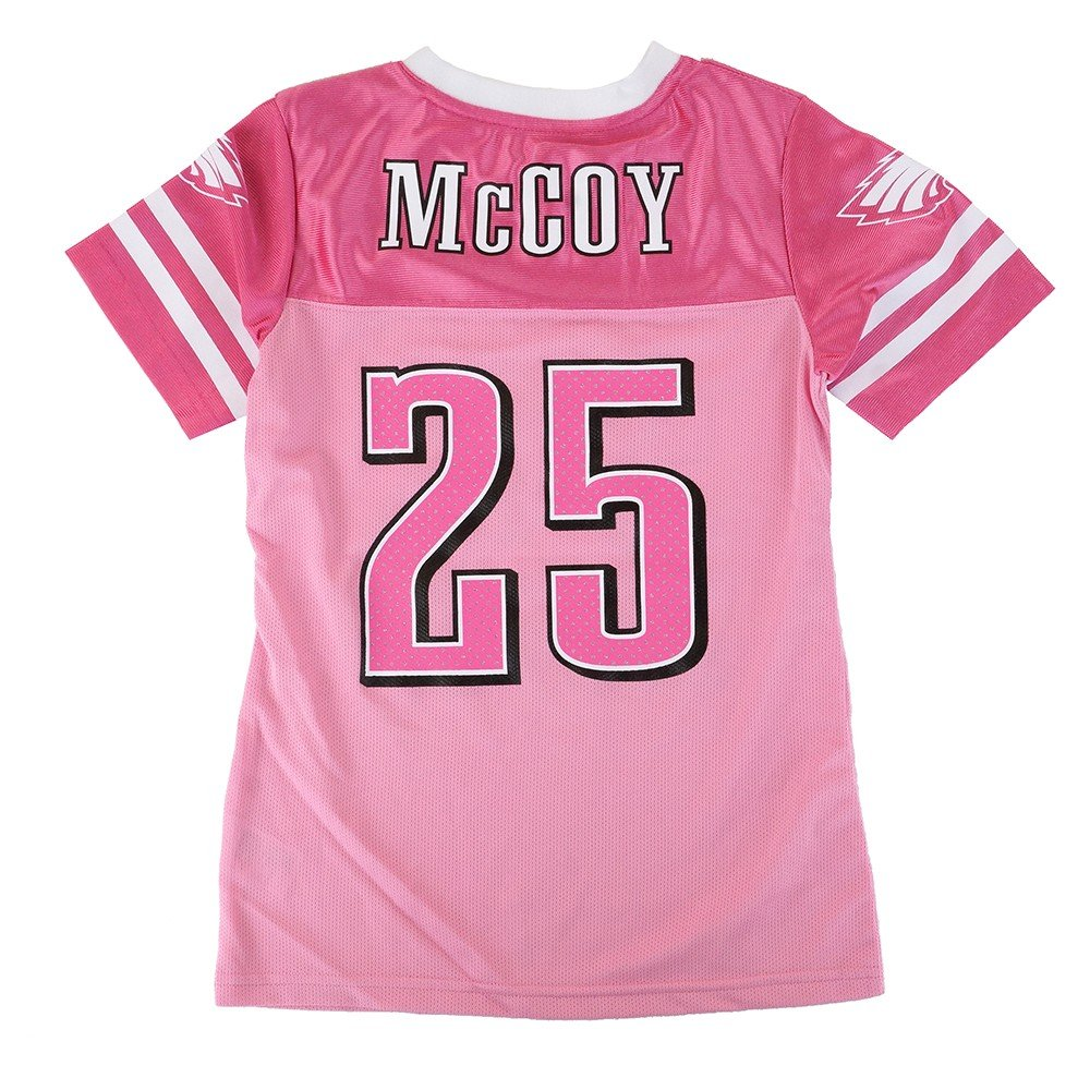 156463c5e36 ... closeout amazon outerstuff lesean mccoy nfl philadelphia eagles mid  tier replica pink jersey girls 7 16