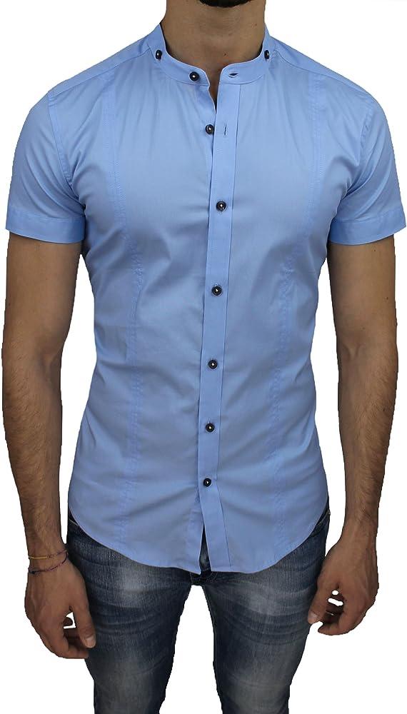 Ak collezioni - Camisa Casual - Camisa - para Hombre Azul Celeste X-Large: Amazon.es: Ropa y accesorios