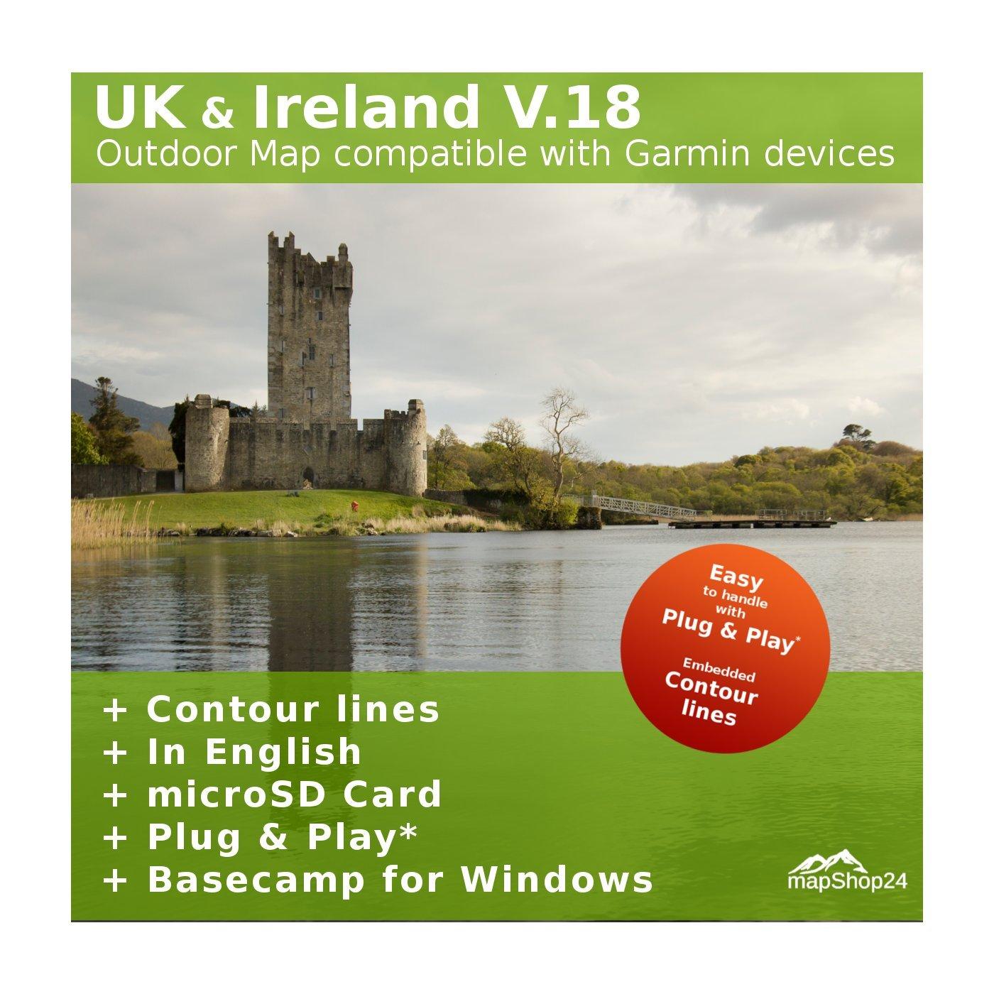 UK V 18 Topo Map Full Great Britain & Ireland Amazon Electronics