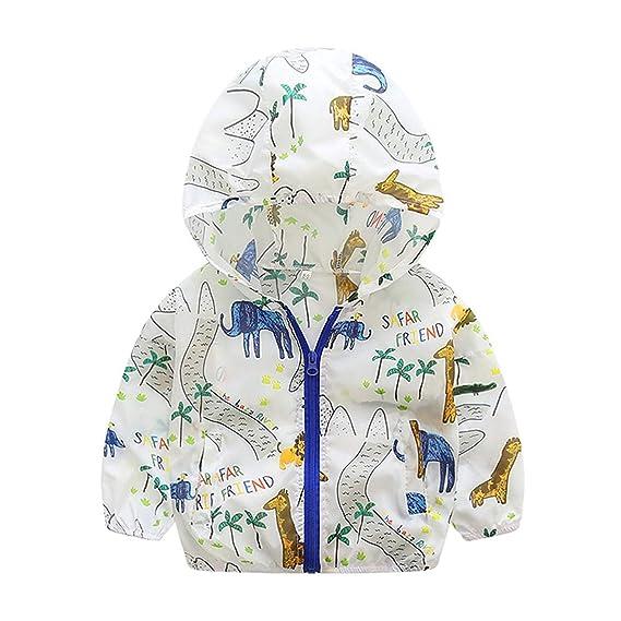c2c5865e6ad63 ジャケット 子供服 ベビー 男の子 ボーイズ キッズコート ウインド ブレーカー 長袖 フード付き 可愛い動物の