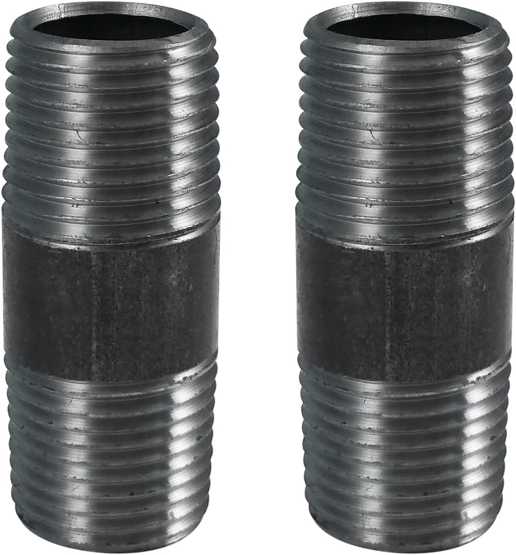 LDR Pipe Décor Industrial Steel Grey 3/8 x 2-Inch Length Pipe Connector Great for DIY Projects