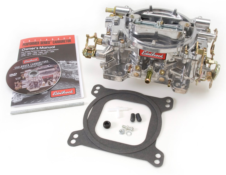 Edelbrock 1405 Performer 600 CFM Square Bore 4-Barrel Air Valve Secondary Manual Choke New Carburetor by Edelbrock (Image #4)