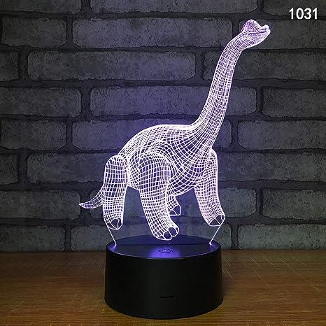 Wylolik Luz nocturna LED para niños 3D Dinosaurio de juguete ...