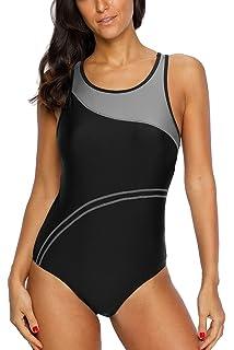 ec048a78d1 CharmLeaks Women s Pro Athletic One Piece Swimsuit Racerback One Piece  Swimwear