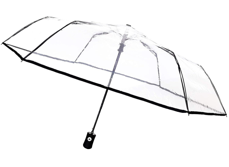 Divertido paraguas transparente plegable. Opción de diseños diferentes.