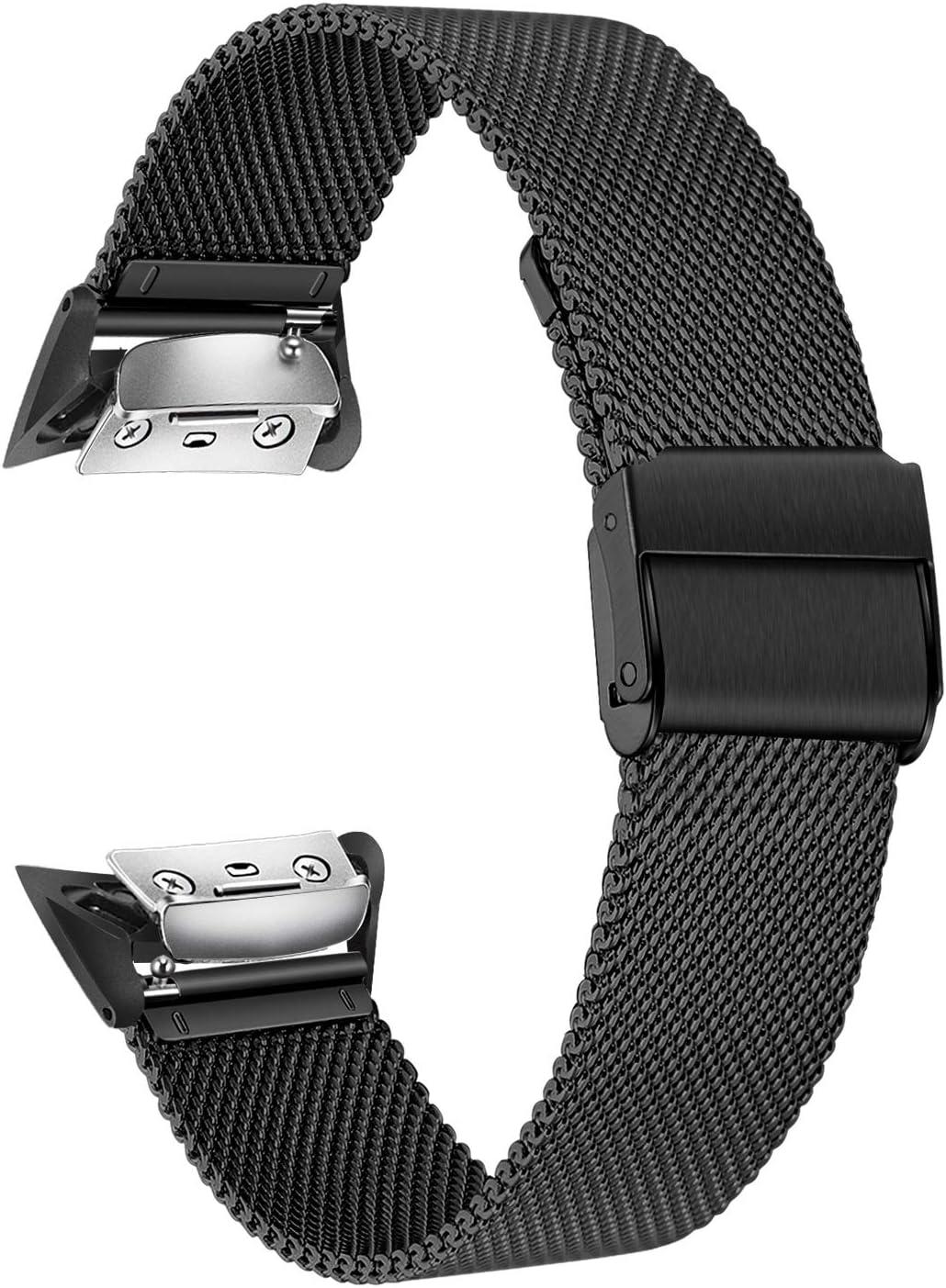 TRUMiRR Gear Fit 2 Correa de Reloj, Solid Banda de Acero Inoxidable Sports Strap Pulsera de muñeca para Samsung Gear Fit 2 SM-R360 / Fit 2 Pro SM-R365 Reloj Inteligente