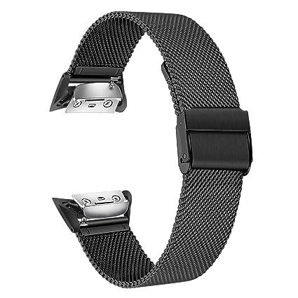 Amazon.com: Correa de reloj Gear Fit 2 de TRUMiRR de malla ...