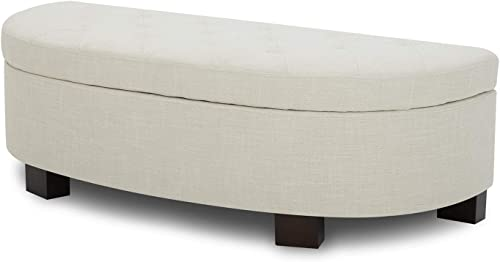 CHITA Button Tufted Storage Ottoman