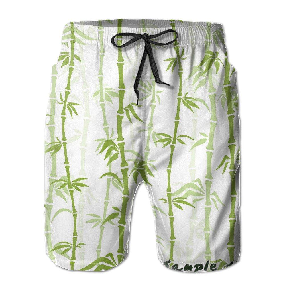 Men's Funny Bamboo Shading Board Shorts
