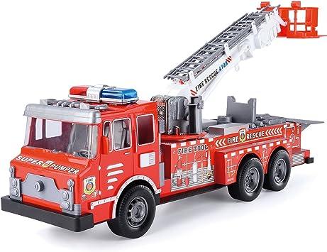 Toyrific - Juego de camión de Rescate de Incendios para niños con Casco: Amazon.es: Juguetes y juegos