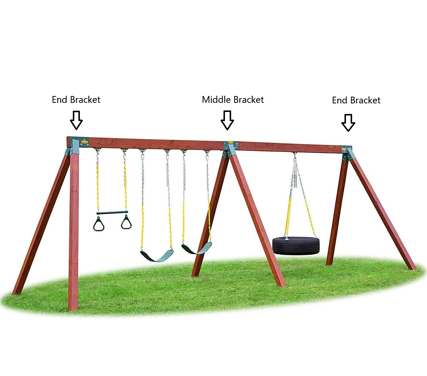 Eastern Jungle Gym Easy 1 2 3 A Frame Swing Set Bracket Heavy Duty