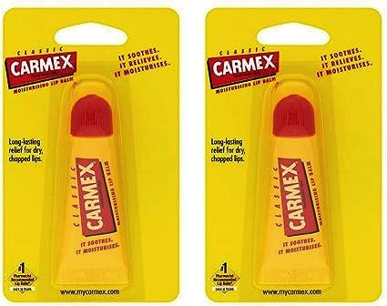 Carmex Bálsamo Labial Hidratante Clásico en Tubo Chapstick 10gr - Pack de 2: Amazon.es: Belleza