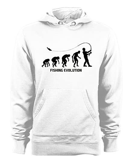 t-shirteria Sudadera con Capucha Fishing Evolution – Evolution – Pesca – Fishing – Sport