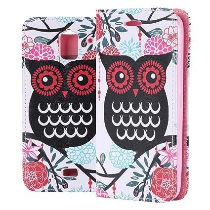 ECENCE Handyhülle Schutzhülle Case Cover kompatibel für Huawei Y3 Handytasche Eule 13030208