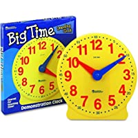 Learning Resources Big Time Learning Clock, Analog Clock, Homeschool, 12 Hour, Basic Math Development, Ages 5+