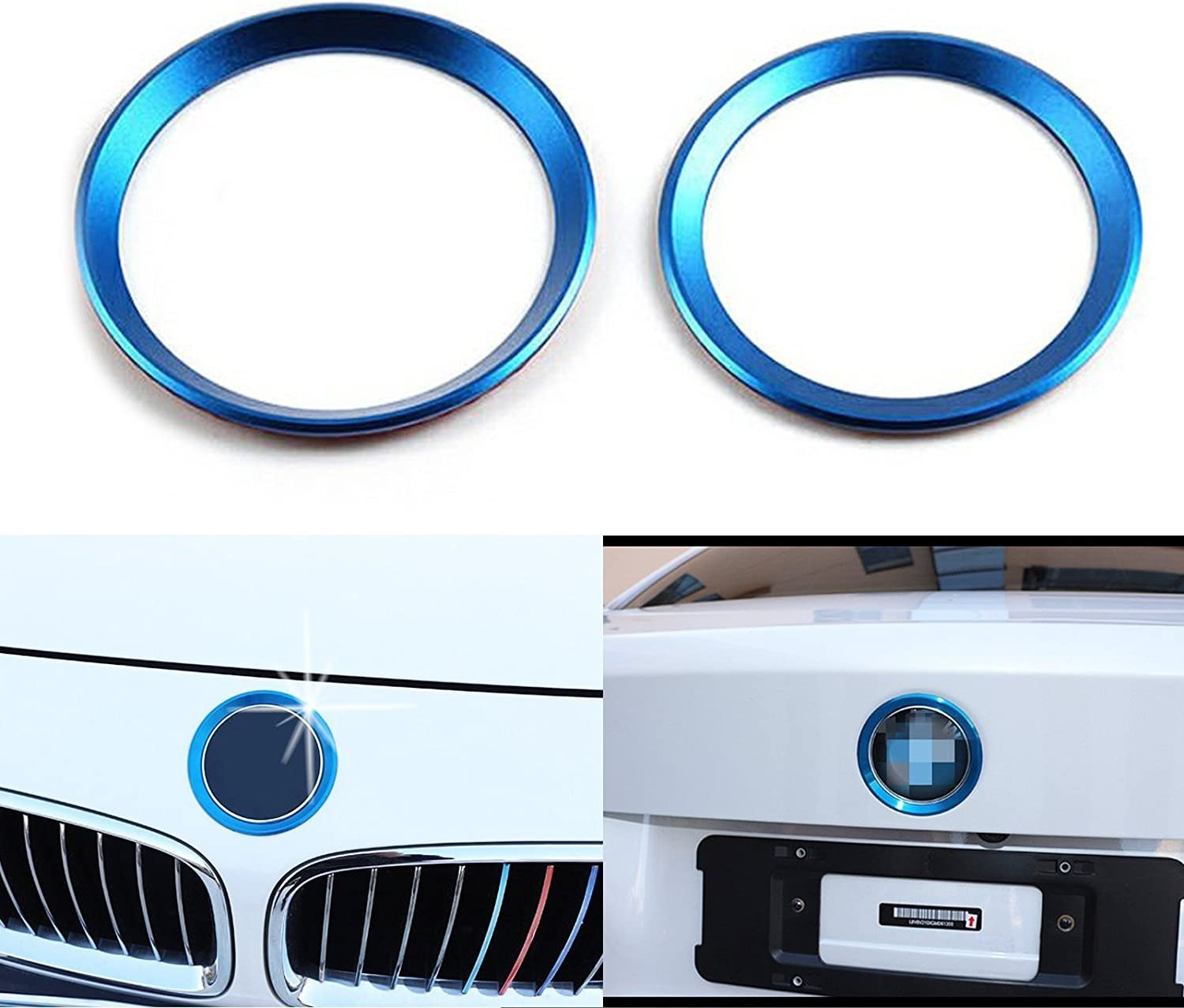 1 Set Car Front and Rear Logo Red Ring Decoration For BMW 3 4 Series M3 M4 E36 E46 E90