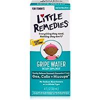Little Remedies Gripe Water-No Alcohol, Sodium Bicarbonate, Artificial Color & Gluten Free-Safe for Newborns-4 oz Bottle