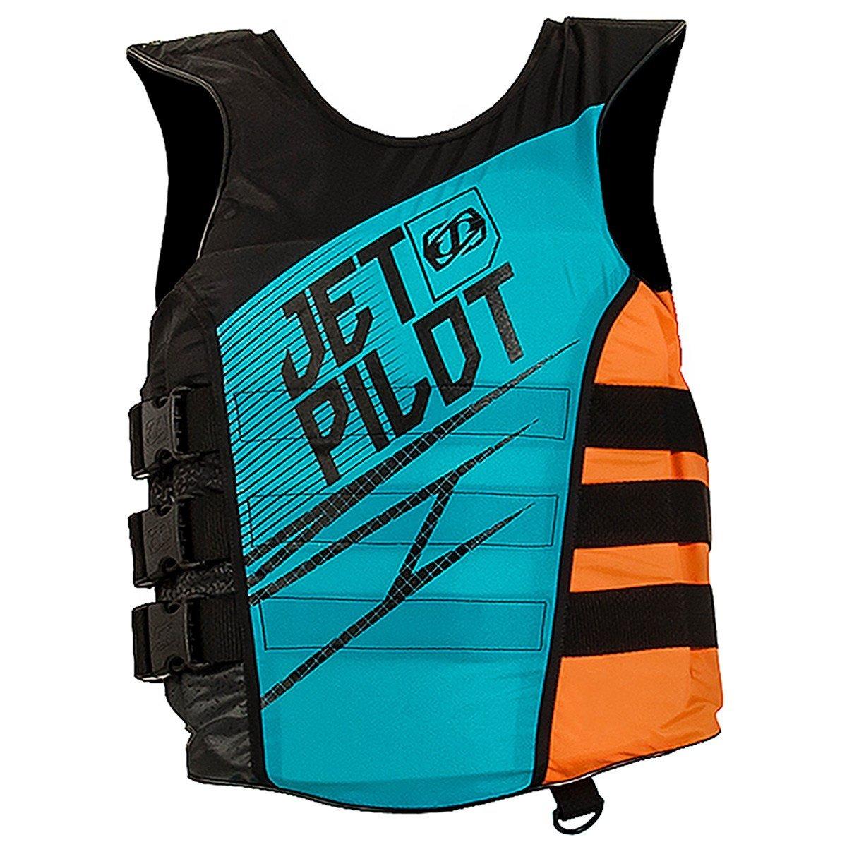 JetpilotメンズマトリックスナイロンサイドエントリPFDライフベストジャケット( L / XL ,ブルー) B01N7WOMB8