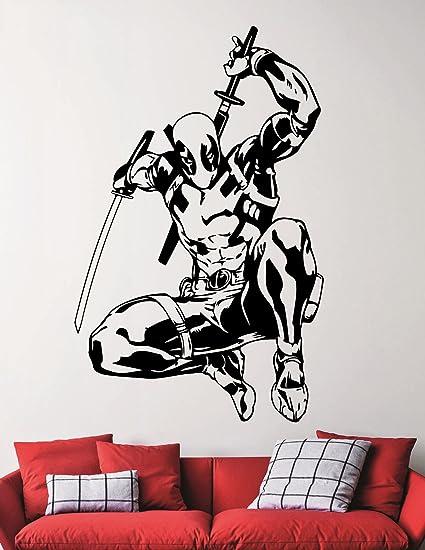 Amazon Com Deadpool Wall Decal Marvel Comics Superhero Decals Home