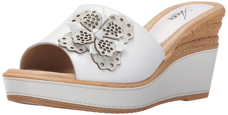 Azura by Spring Step Women's Montanara Wedge Sandal B015RAEUA8 42 EU/10.5-11 M US White