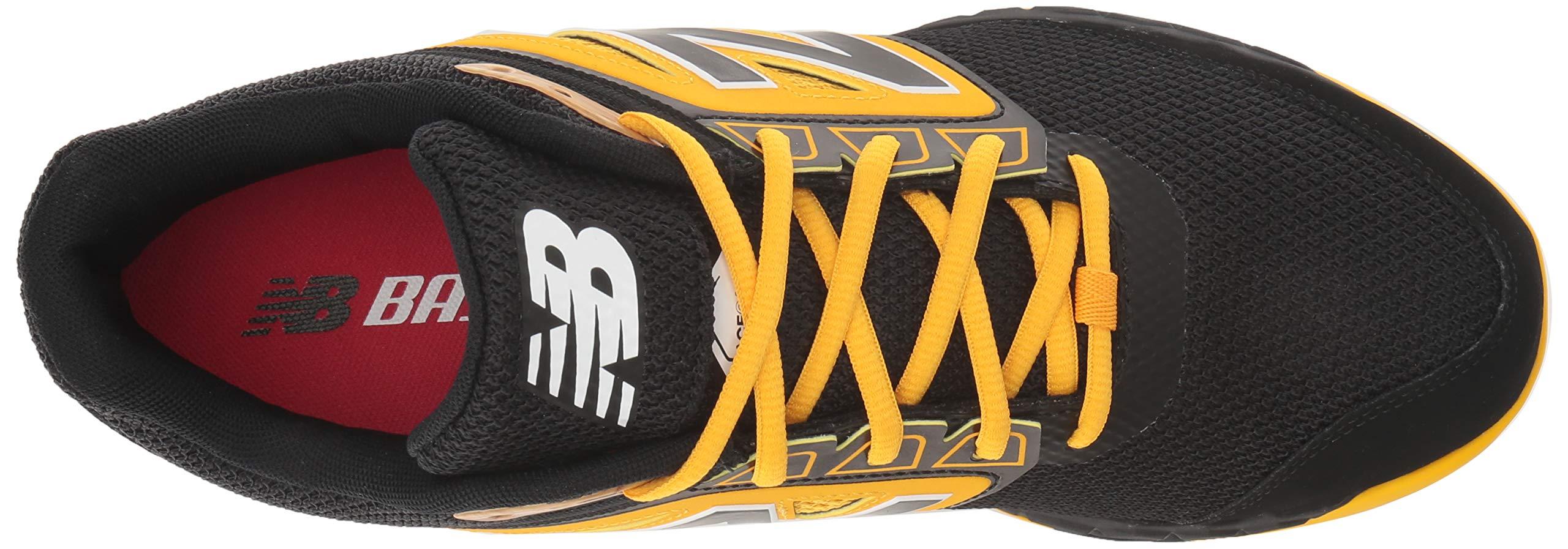 New Balance Men's 3000v4 Turf Baseball Shoe, Black/Yellow, 5 D US by New Balance (Image #8)