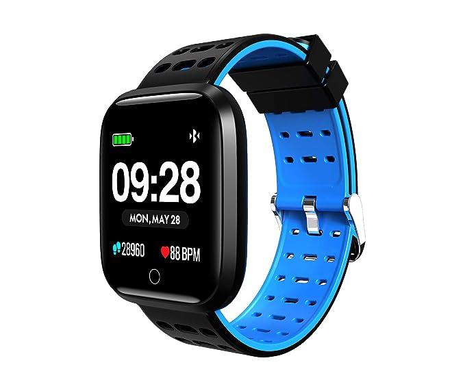 Dickoh IP67 - Pulsera Inteligente Deportiva multifunción para natación, Impermeable, para Hombre: Amazon.es: Relojes