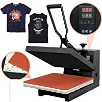 "Super Deal PRO 15"" X 15"" Digital Heat Press Clamshell Sublimation Transfer Machine for T-Shirt"